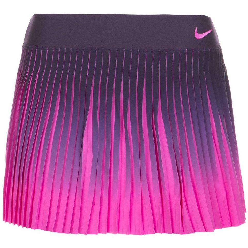 NIKE Flex Victory Tennisrock Damen in lila / pink