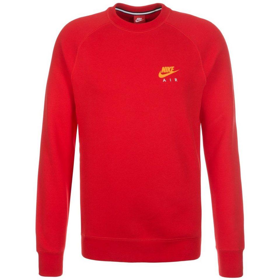 Nike Sportswear Air Fleece Crew Sweatshirt Herren in rot / neonorange