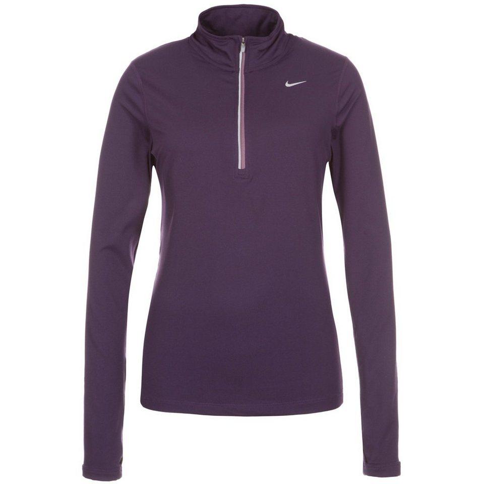NIKE Element Half-Zip Laufshirt Damen in lila / silber