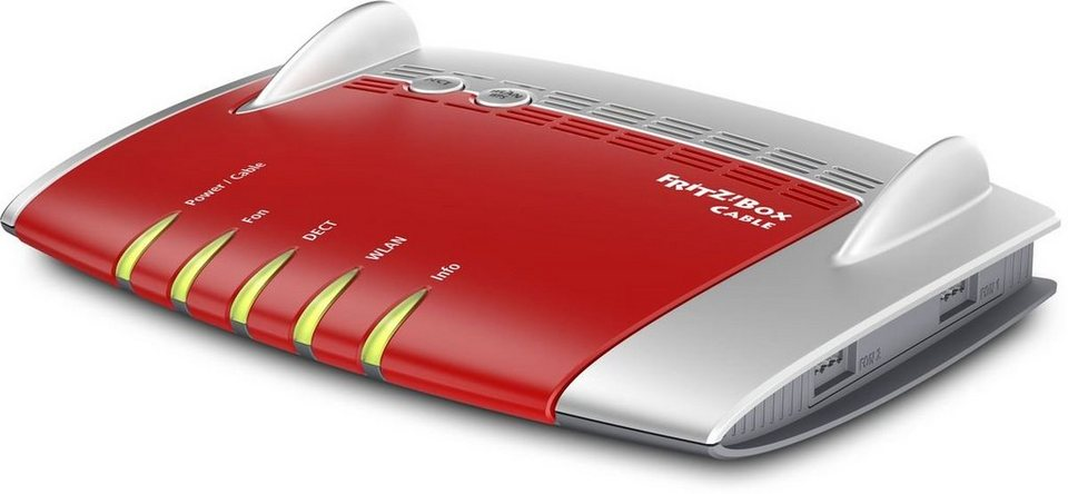 AVM Router »FRITZ!Box 6430 Cable« in Rot-Silber