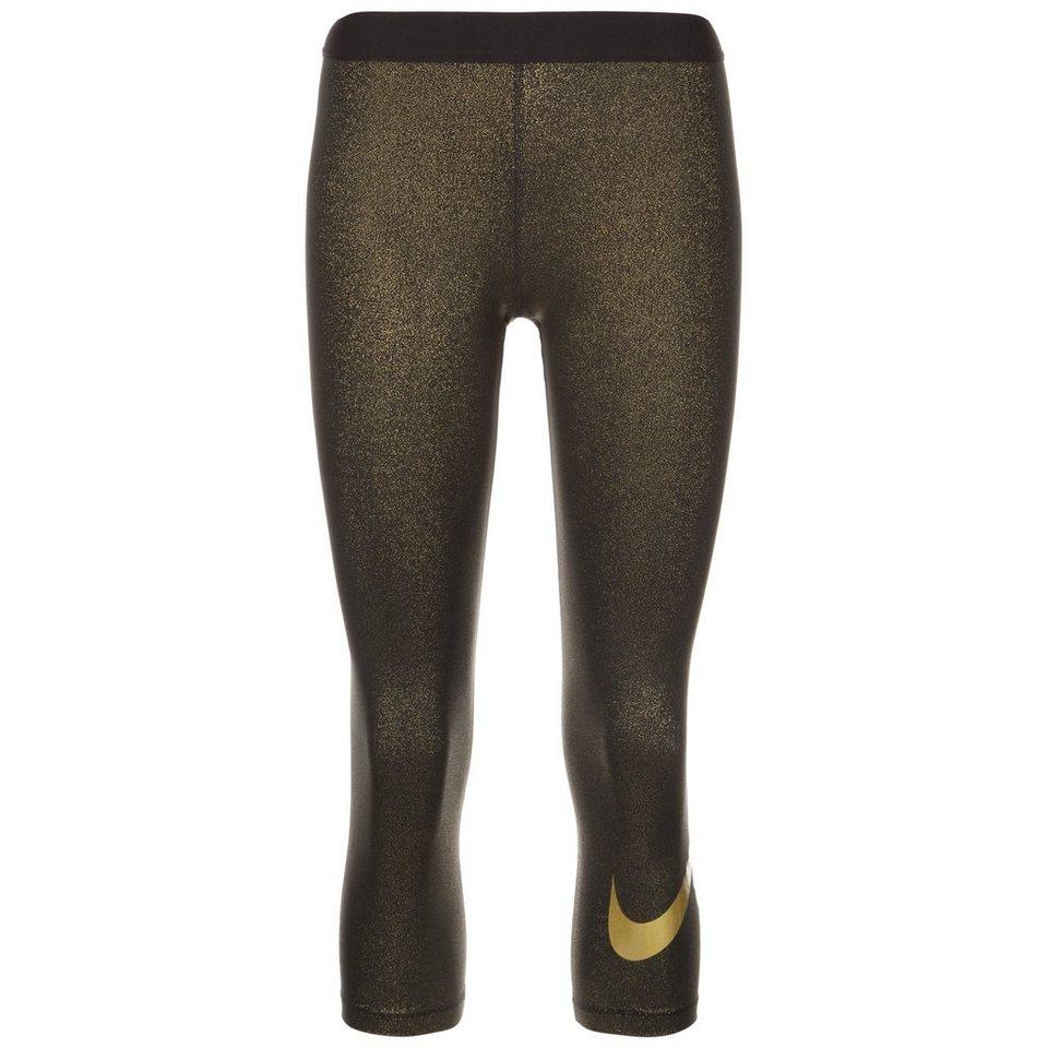 NIKE Pro Dry Gold Capri Trainingstight Damen in schwarz / gold