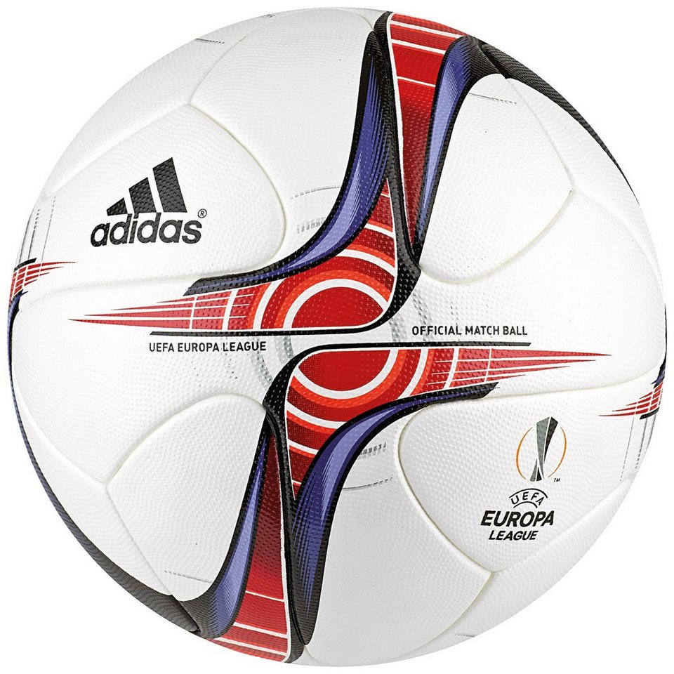 adidas Performance Europa League Matchball 2016/2017 in weiß / rot / blau