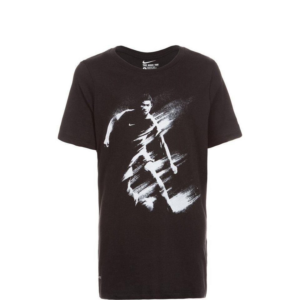 NIKE CR7 Art T-Shirt Kinder in schwarz / weiß