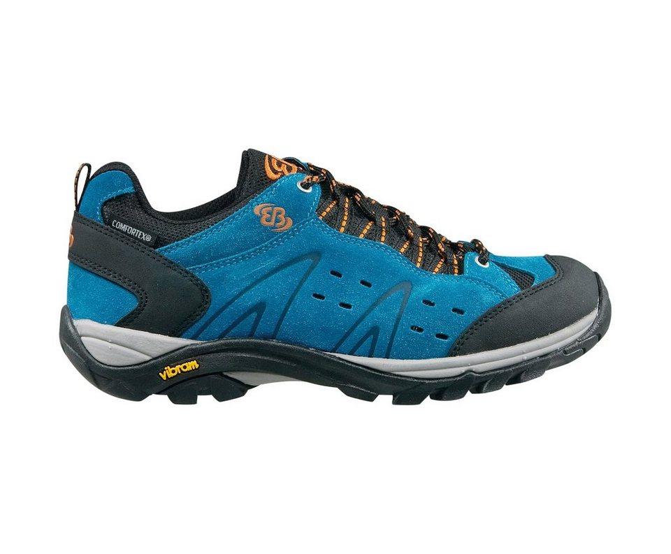 Brütting wasserfester Trekkingschuh für Herren »Mount bona low« in blau/schwarz/orange