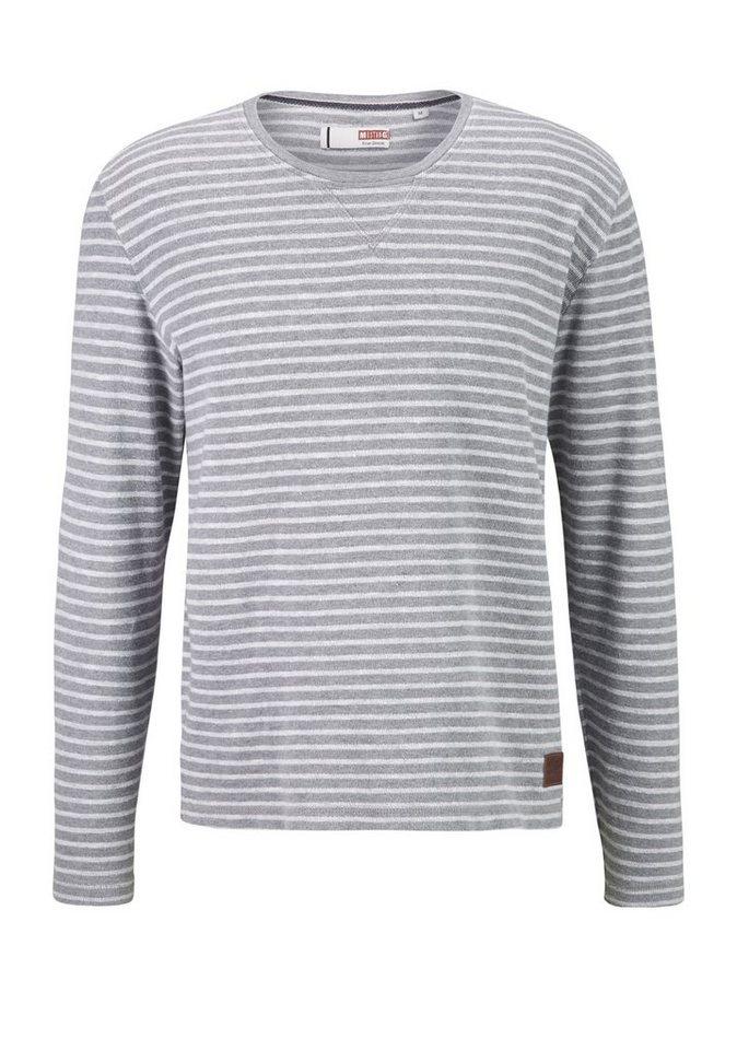 MUSTANG Sweatshirt in wollweiß