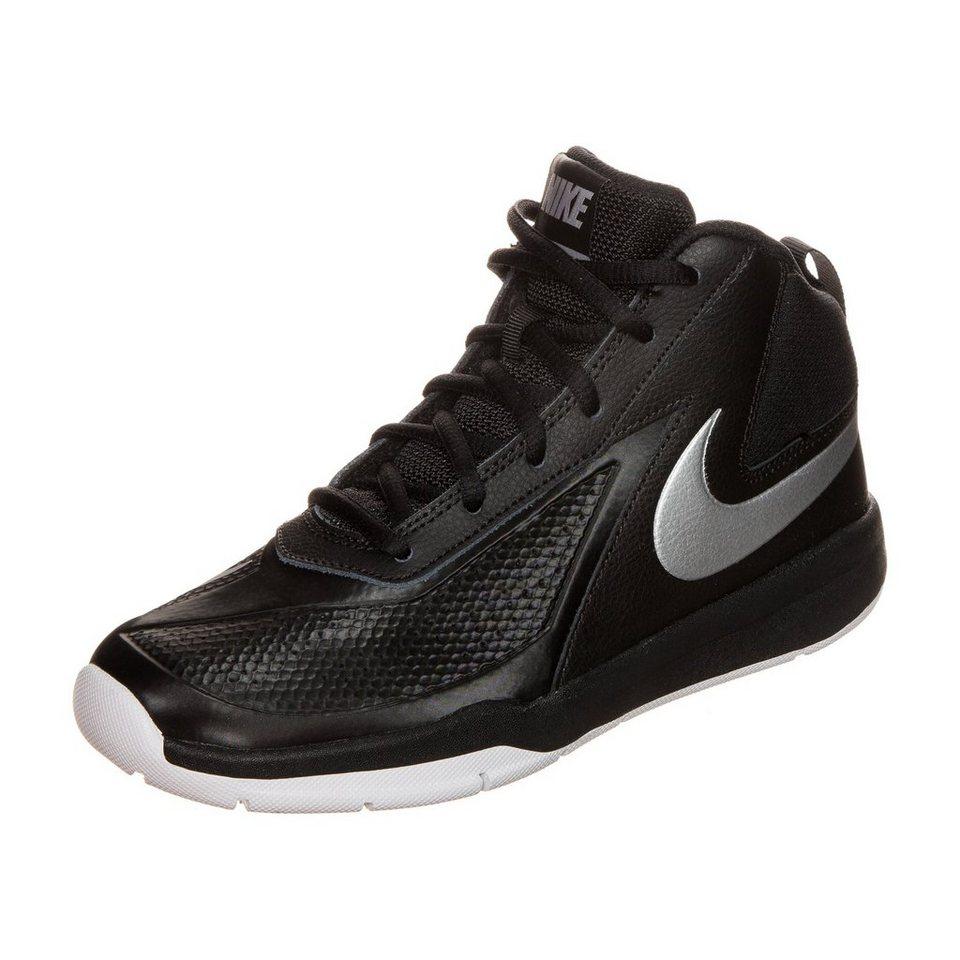 NIKE Team Hustle D 7 Basketballschuh Kinder in schwarz / silber