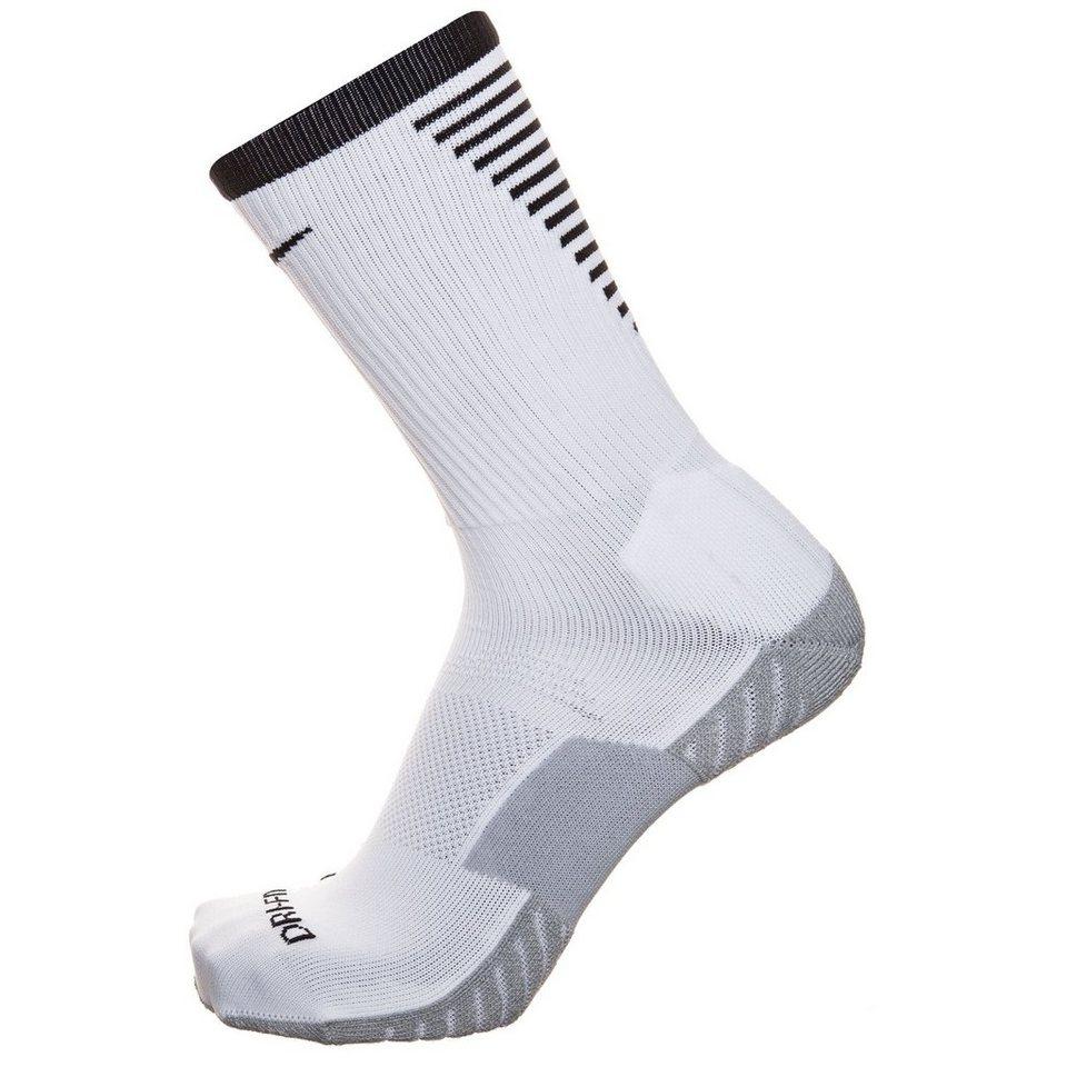 NIKE Stadium Football Crew Socken Herren in weiß / schwarz