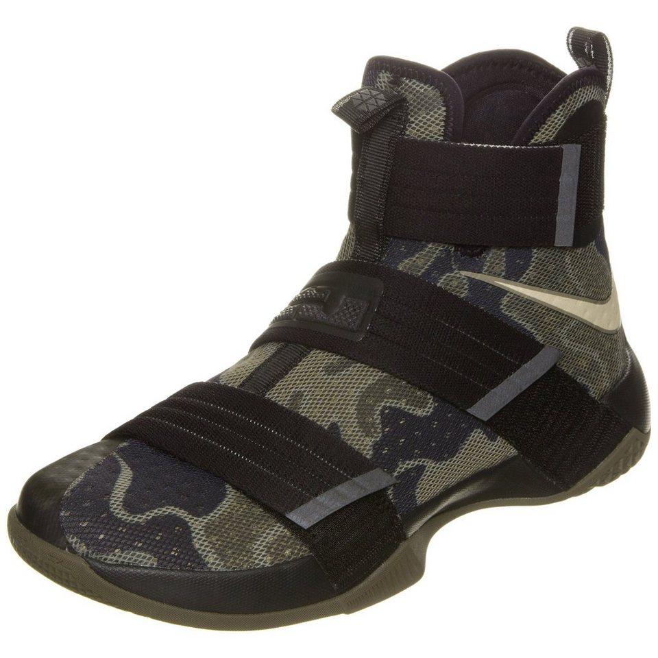 NIKE Zoom Lebron Soldier X SFG Basketballschuh Herren in oliv / schwarz