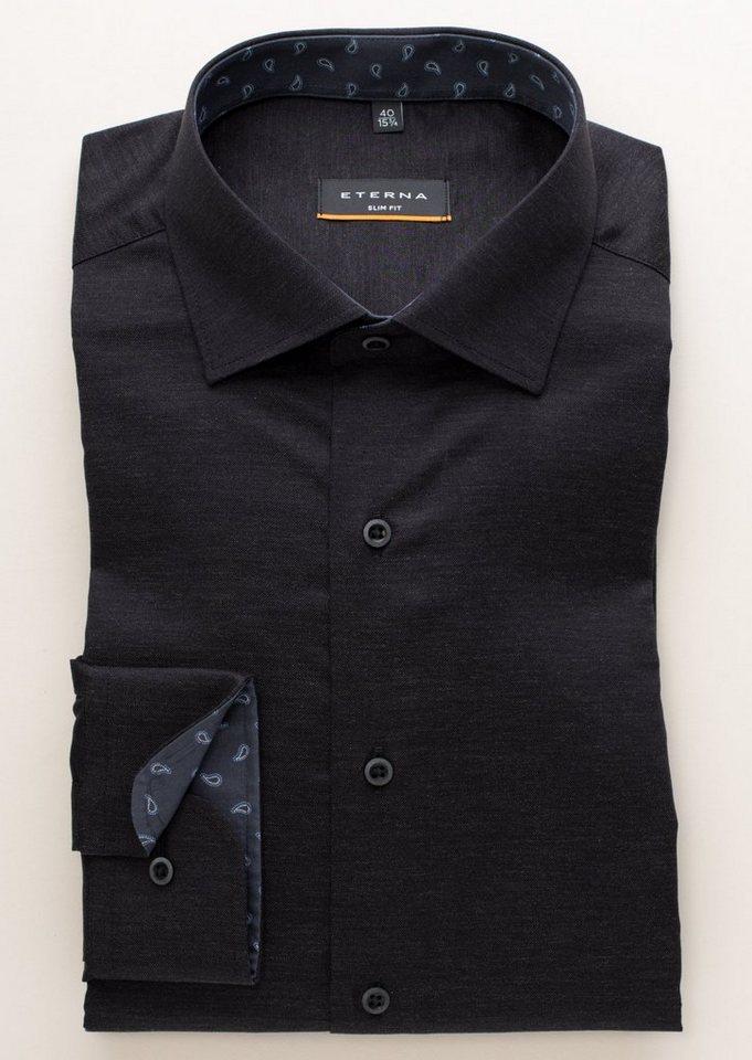 ETERNA Langarm Hemd »SLIM FIT« in schwarz