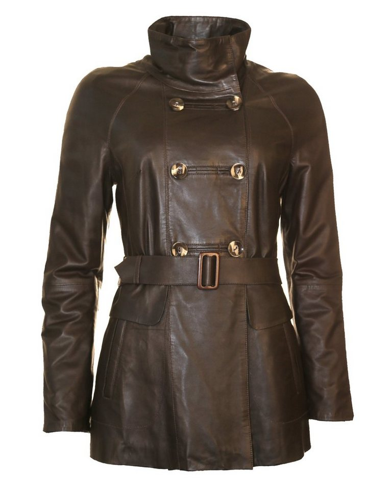 JCC Lederjacke, Damen Loja in dark brown