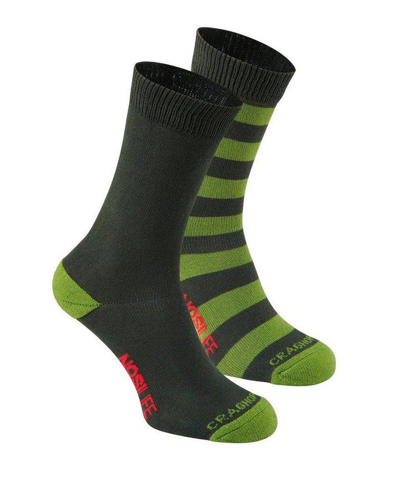 Craghoppers Socken NLife Doppelpack Travel in oliv