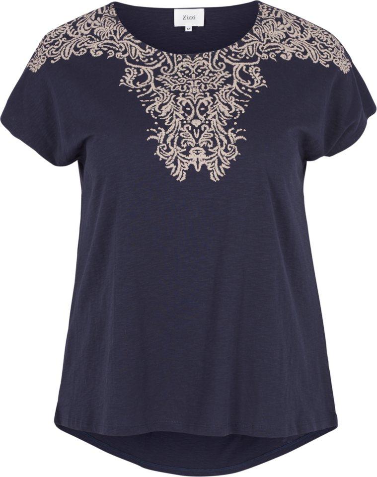 Zizzi T-Shirt in Night Sky