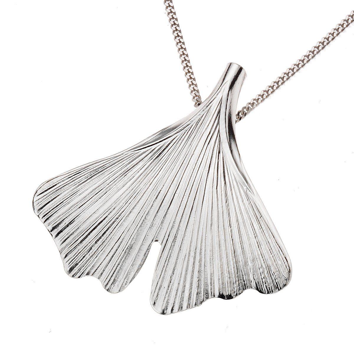 Zeeme Anhänger mit Kette »925/- Sterling Silber 45cm lang Ginko«