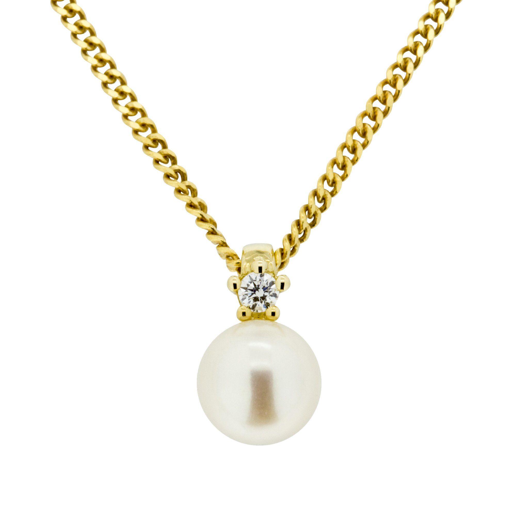 Orolino Anhänger mit Kette »585/- Gelbgold Brillant + Perle«