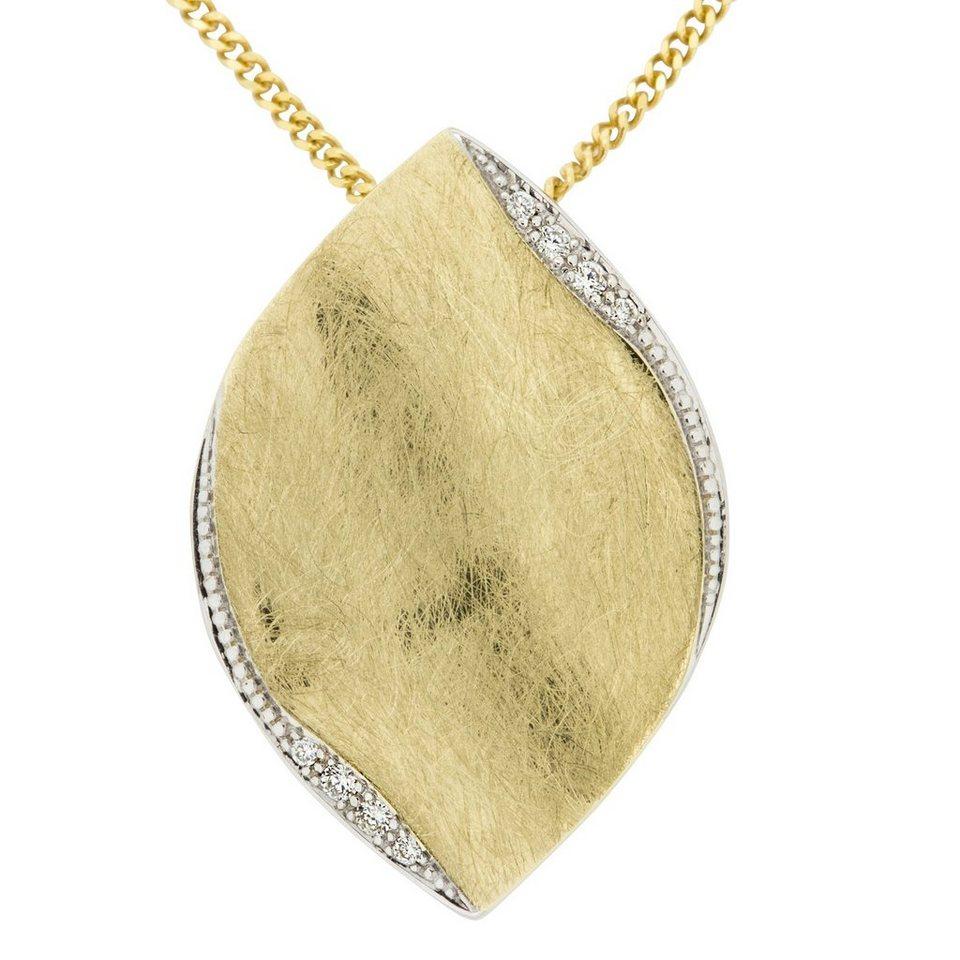 Orolino Anhänger mit Kette »585/- Gold Brillant SI Vollschliff Rund« in gelb