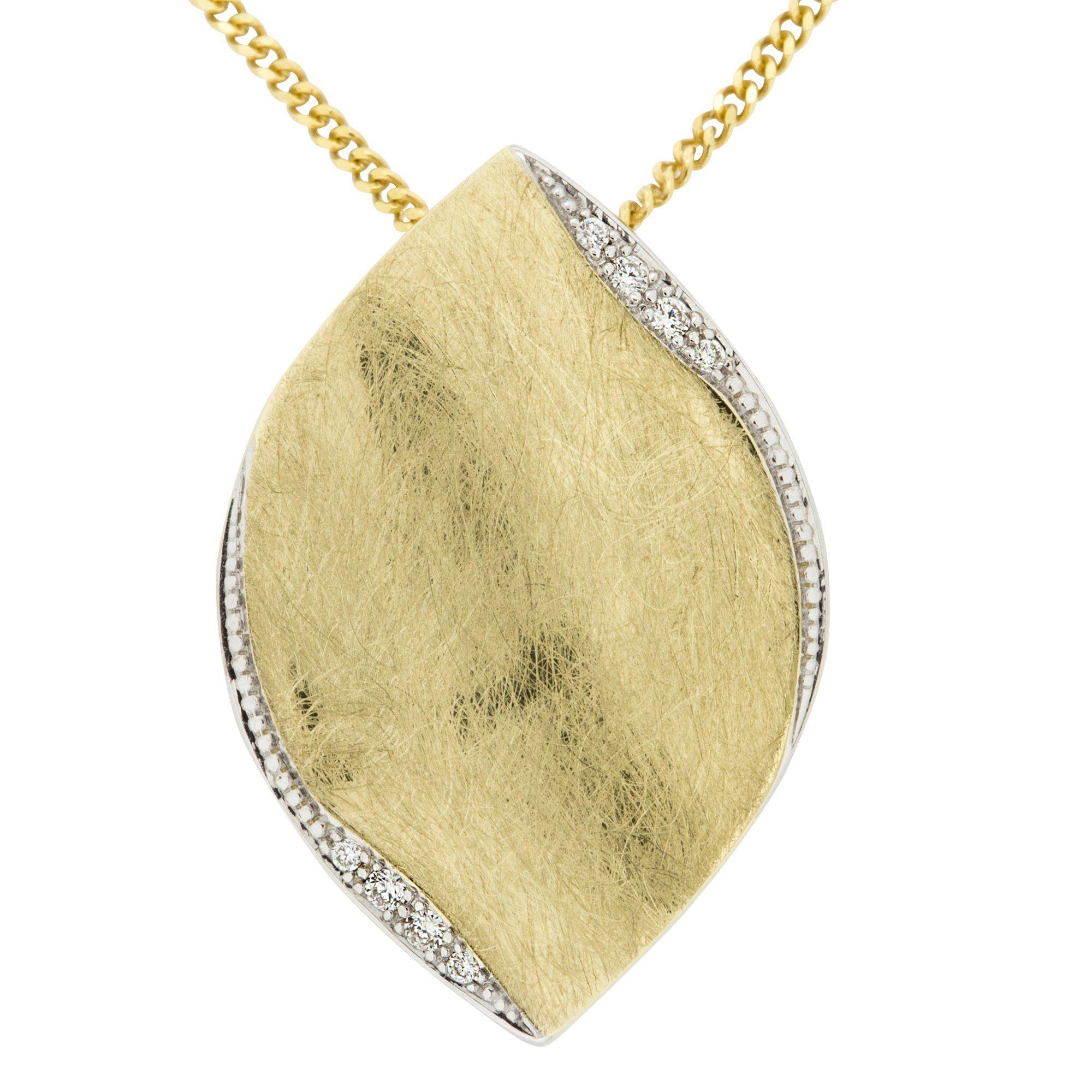 Orolino Anhänger mit Kette »585/- Gold Brillant SI Vollschliff Rund«