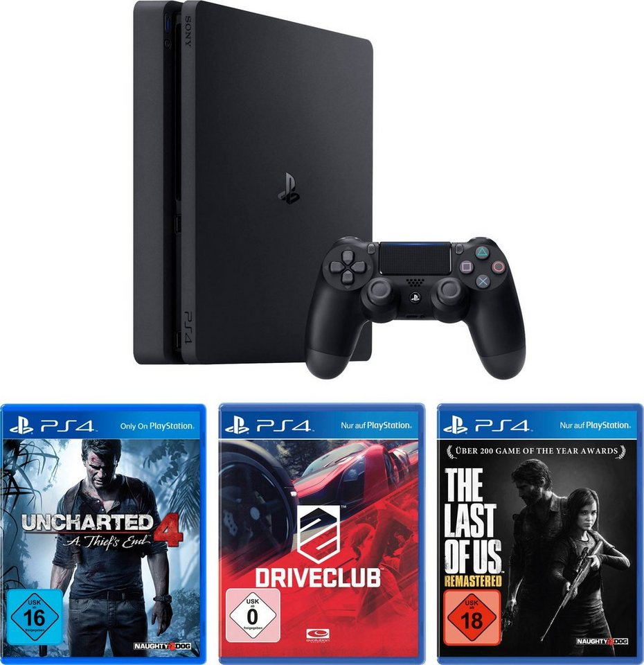 playstation 4 ps4 1tb slim uncharted 4 driveclub. Black Bedroom Furniture Sets. Home Design Ideas