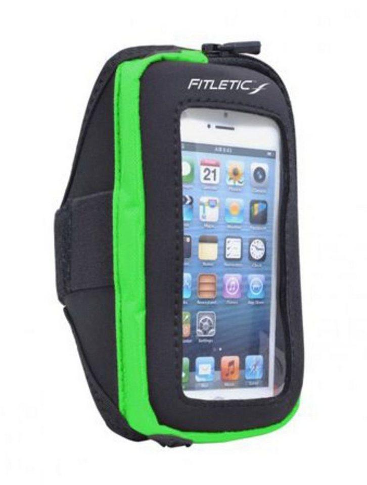 Fitletic Sportarmband »Smartphone Armtasche PLUS - Größe S/M« in Grün-Anthrazit