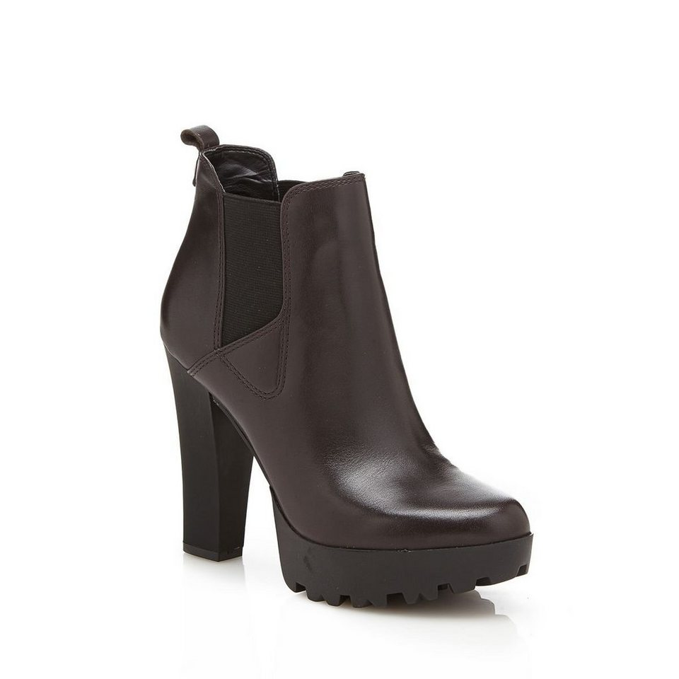 Guess ANKLEBOOT CLANI AUS LEDER in dunkelbraun