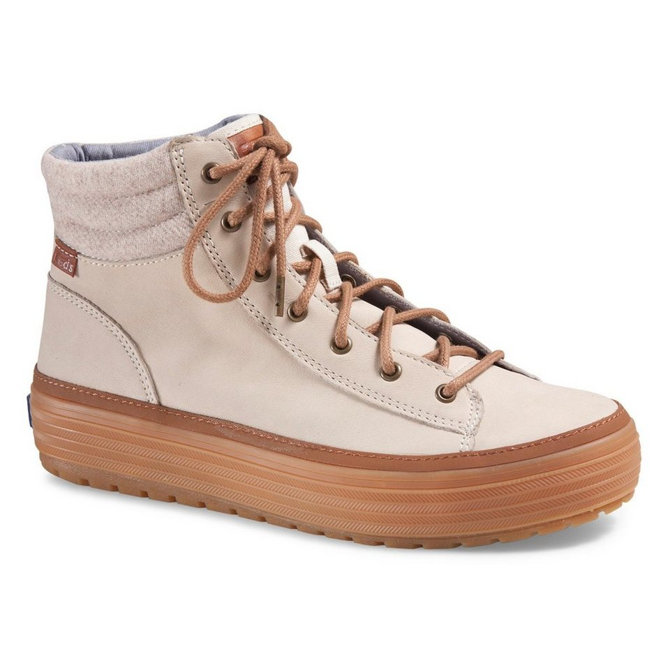 Keds Sneaker Boot »High Rise Leather Wool« in natur