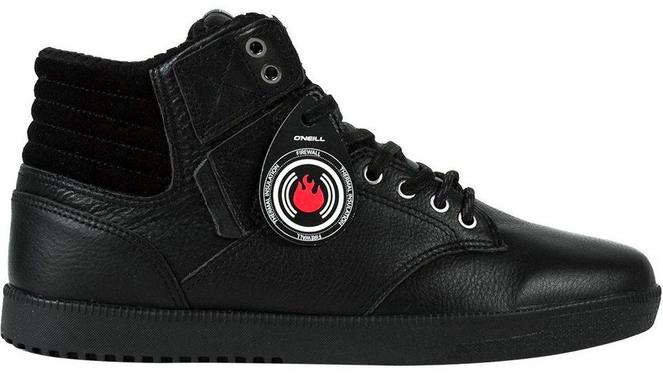 O'NEILL Mid Cut Sneaker »Leder Sneaker Raybay Heat von O´Neill« in Schwarz-Schwarz