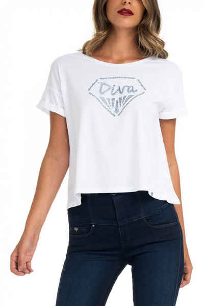 salsa jeans T-Shirt, kurzarm »SAMARA« Sale Angebote Felixsee