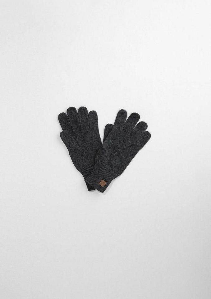 s.Oliver RED LABEL Junior Strick-Handschuhe aus Baumwoll-Mix für Jungen in dark grey melange