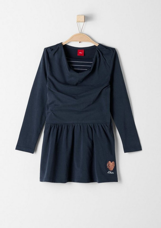 s.Oliver RED LABEL Junior Jerseykleid im Layer-Look für Mädchen in dark blue