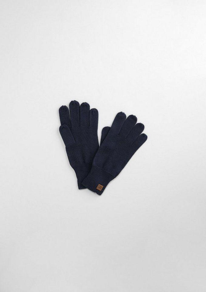 s.Oliver RED LABEL Junior Strick-Handschuhe aus Baumwoll-Mix für Jungen in dark blue