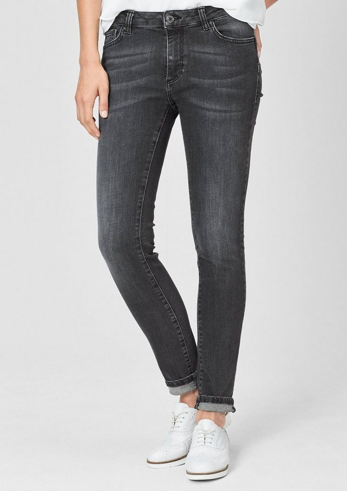 s.Oliver BLACK LABEL Figurformende Stretch-Jeans in grey/black