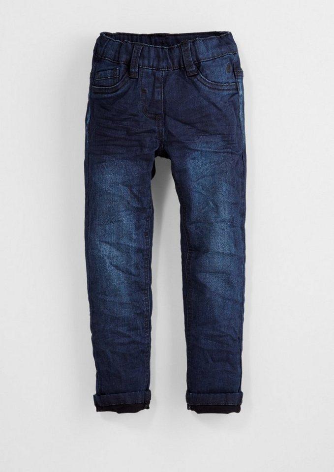 s.Oliver RED LABEL Junior Treggings: Dunkle Stretch-Jeans für Mädchen in blue denim stretch