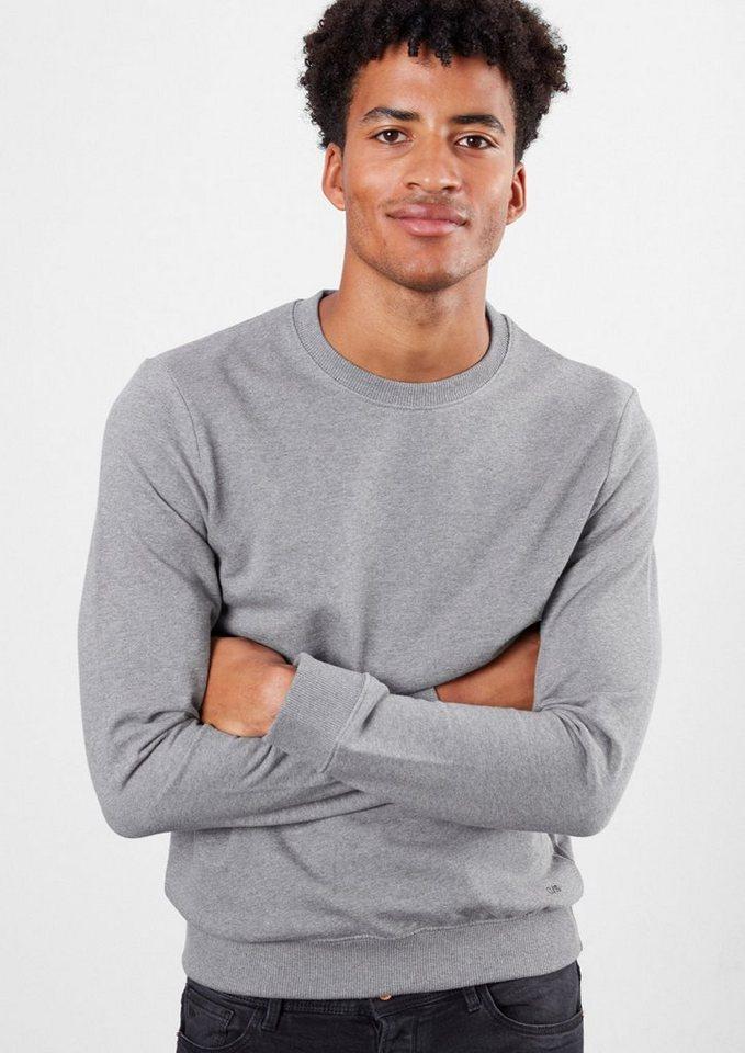 Q/S designed by 2 in 1-Sweatshirts mit Rundhals in grey & blue