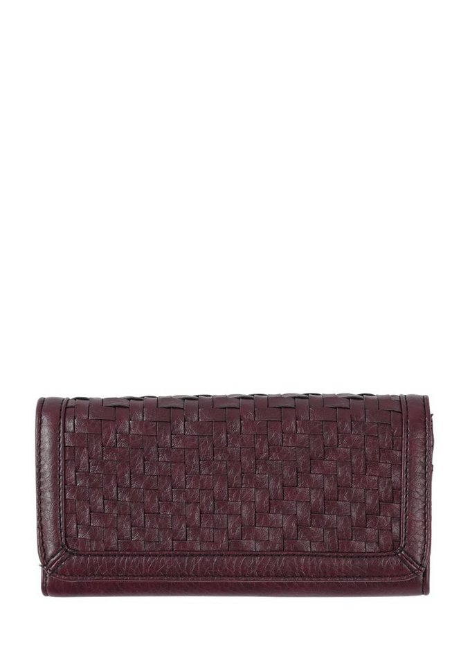 s.Oliver RED LABEL Portemonnaie mit geflochtener Front in dark plum