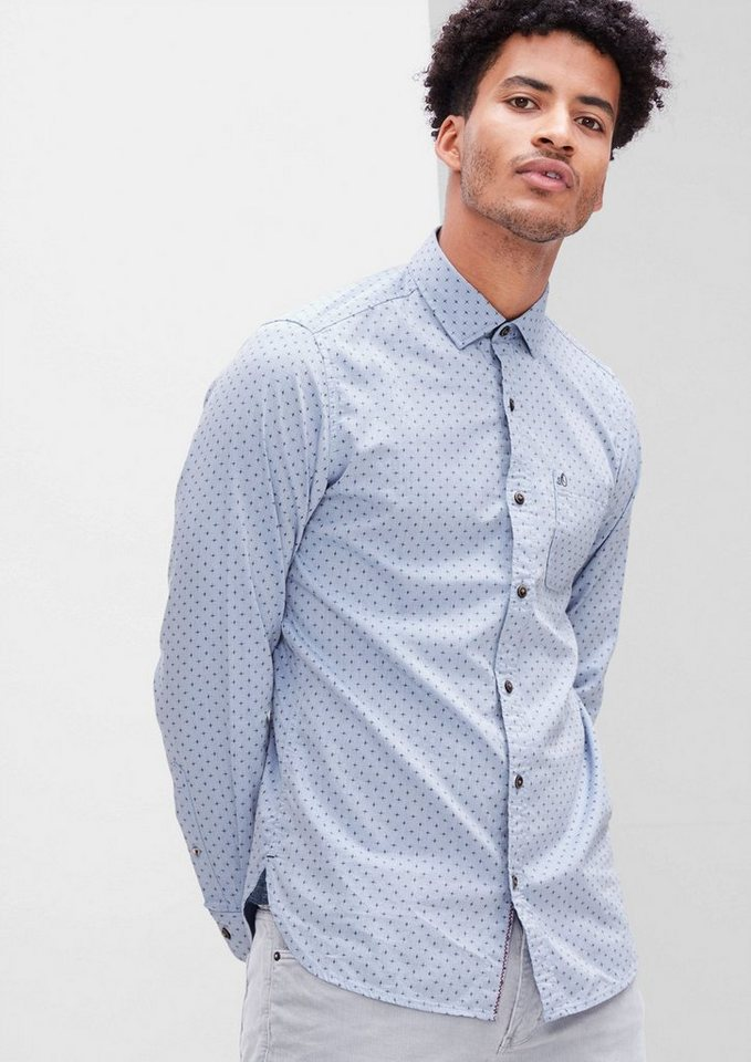 s.Oliver RED LABEL Slim: Leichtes Twill-Hemd in strato blue