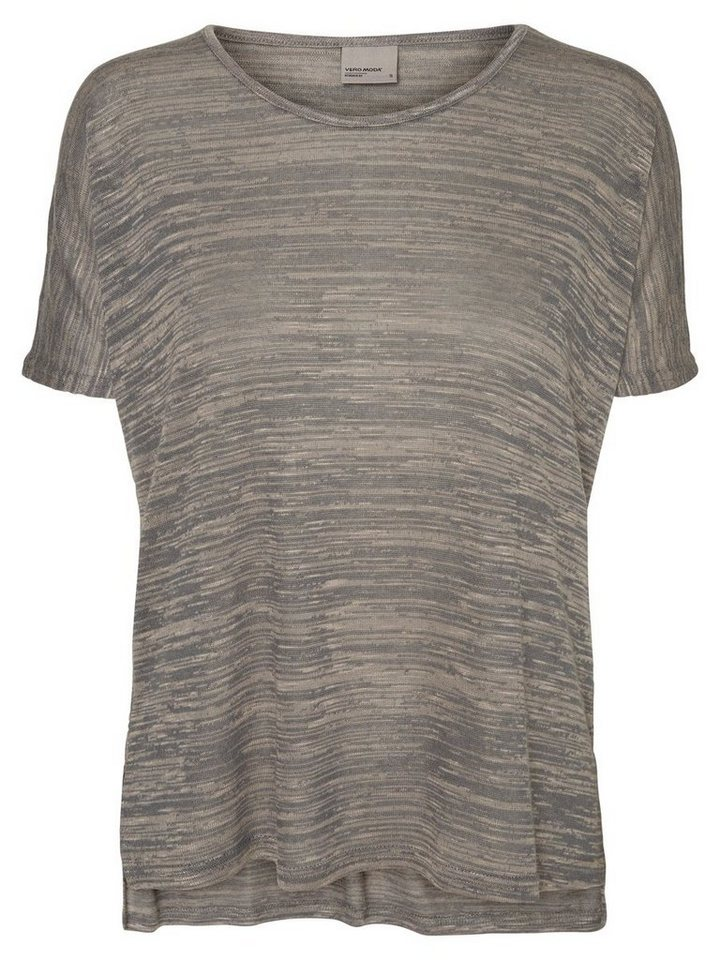 Vero Moda Loose-Fit- T-Shirt in Smoked Pearl