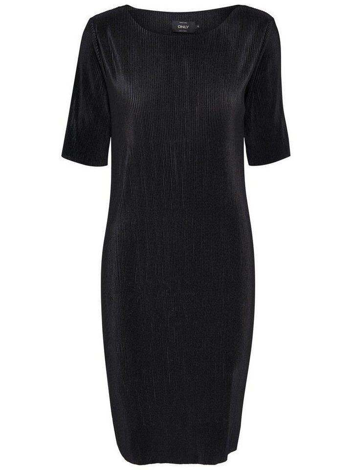 Only Detailliertes Kleid mit kurzen Ärmeln in Black