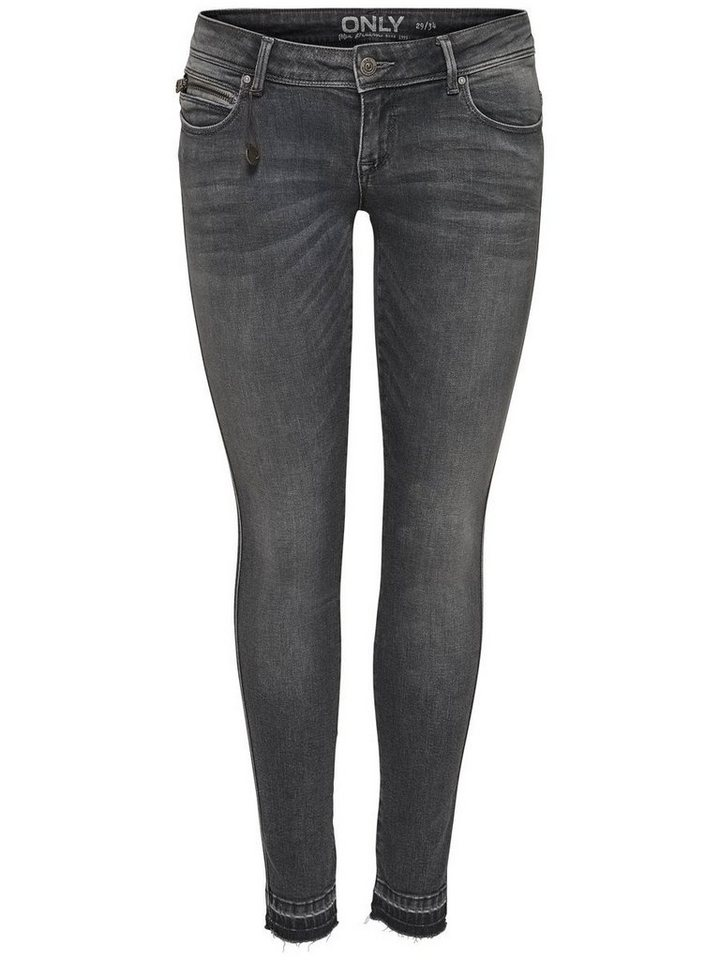 Only Coral Superlow Ankle Skinny Fit Jeans in Medium Grey Denim
