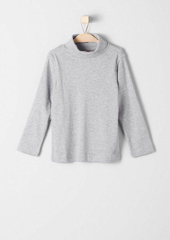 s.Oliver RED LABEL Junior Langarmshirt mit Rollkragen für Jungen in grey melange