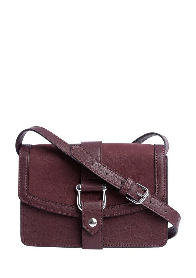 s.Oliver RED LABEL Mini Bag im Materialmix in dark plum