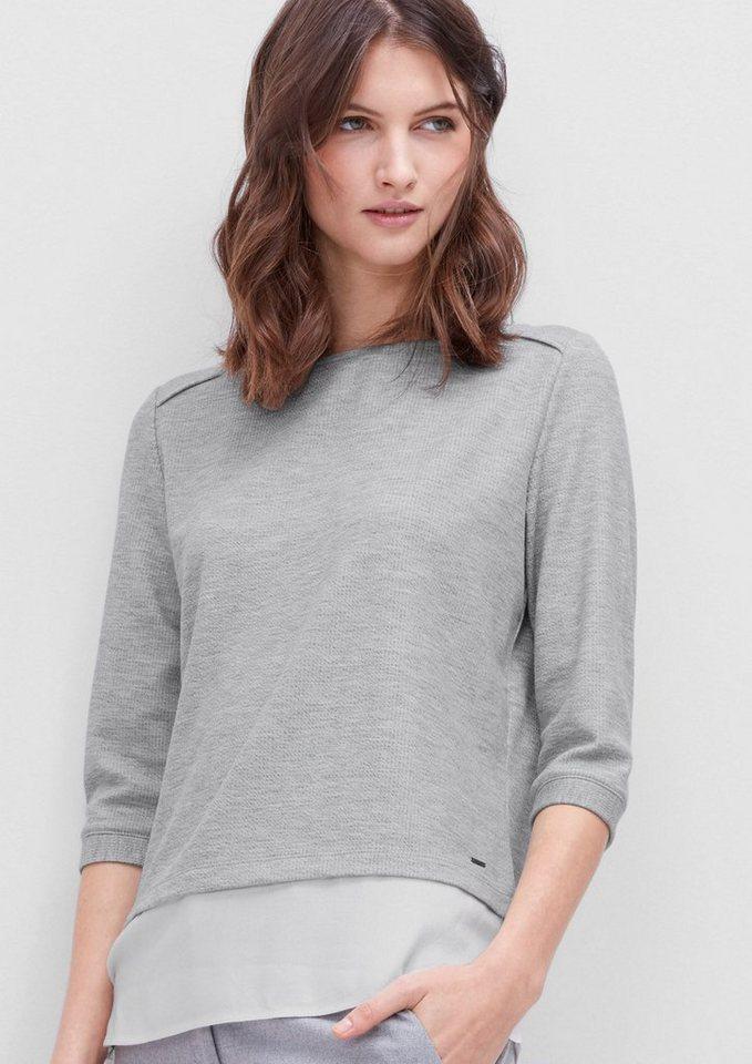s.Oliver RED LABEL Leichtes Sweatshirt im Layer-Look in grey melange