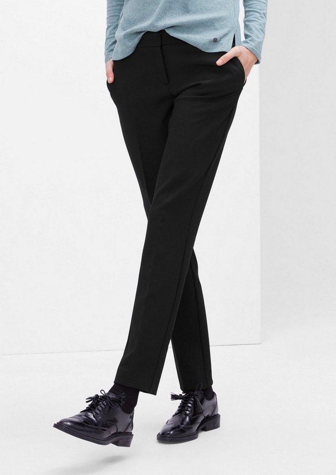 s.Oliver RED LABEL Shape Slim: Stretch-Businesshose in black