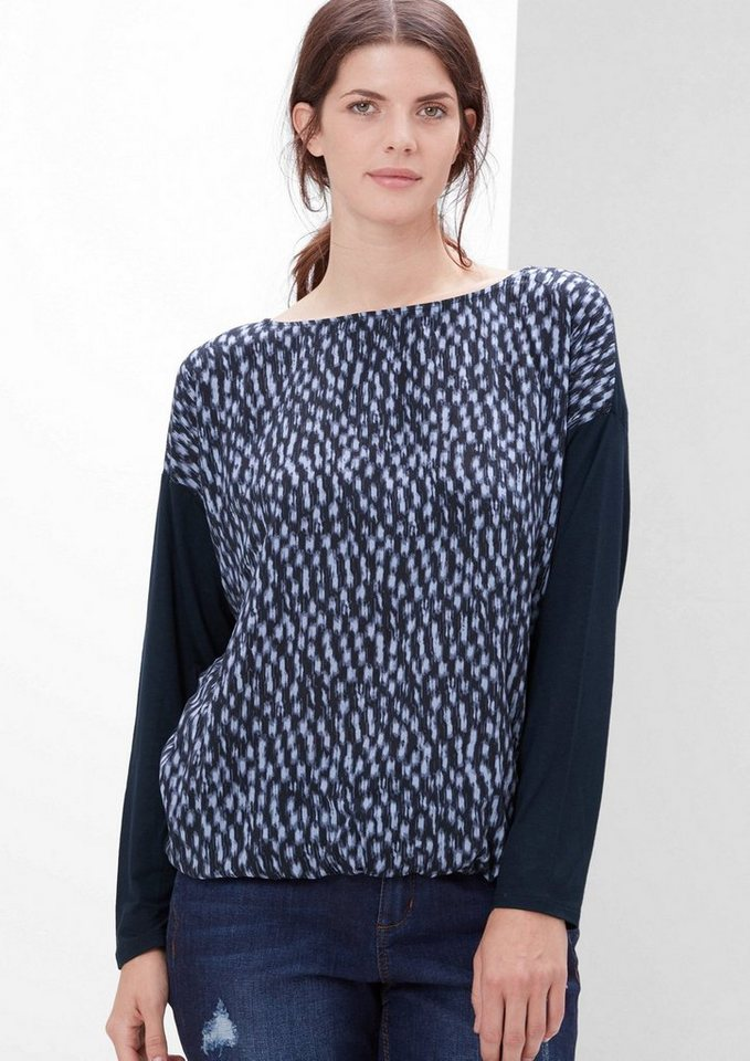 TRIANGLE Shirtbluse mit Musterprint in india ink