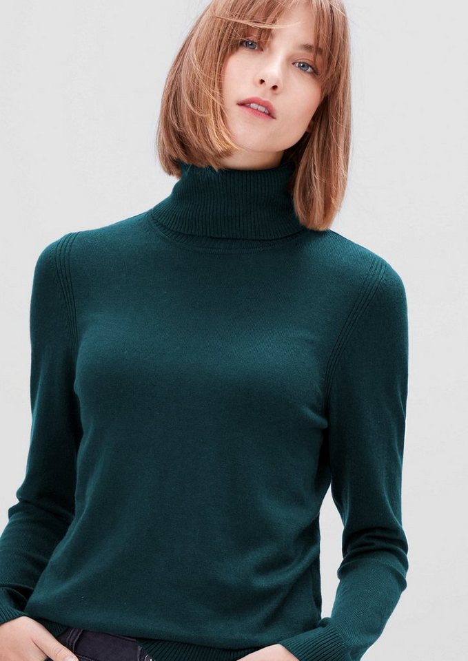 s.Oliver RED LABEL Softer Rolli aus Woll-Mix in teal