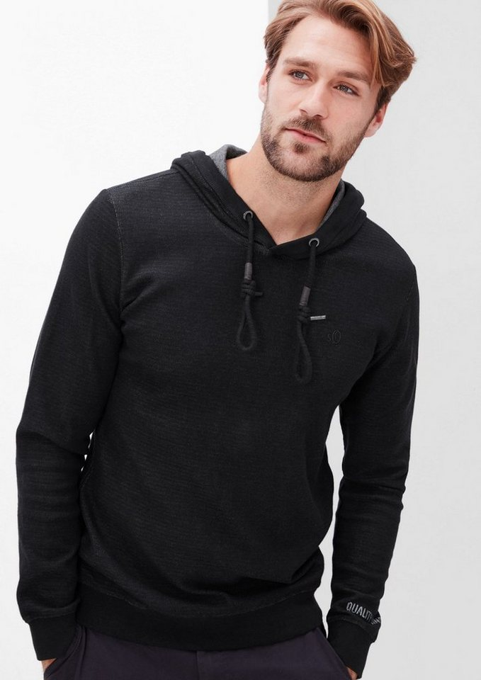 s.Oliver RED LABEL Sweatshirt in Colored-Optik in charcoal
