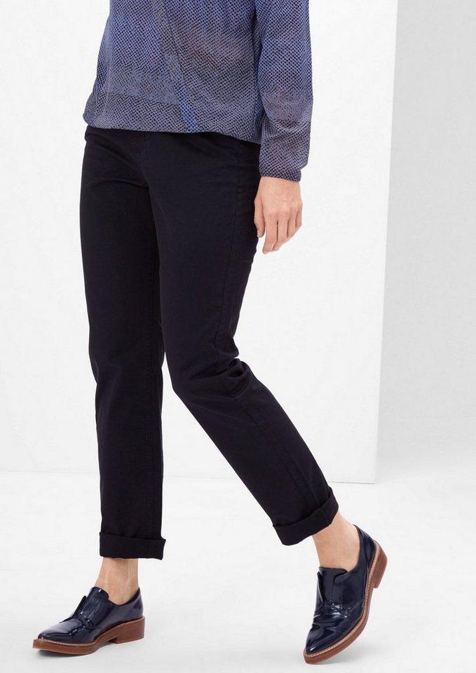 TRIANGLE Curvy: Stretchige Jeans in black
