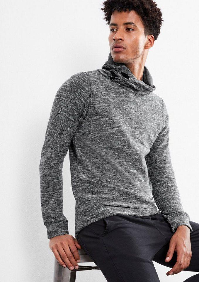Q/S designed by Sweatshirt mit Turtleneck in black woven