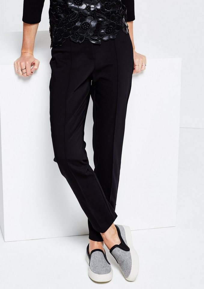 COMMA Edle Businesspants mit aufregenden Details in black