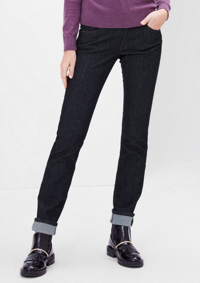 s.Oliver RED LABEL Shape Slim: Rinsed Washed Jeans in blue denim stretch