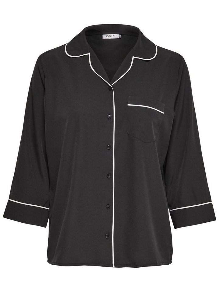 Only Detailliertes Hemd mit 3/4 Ärmeln in Black