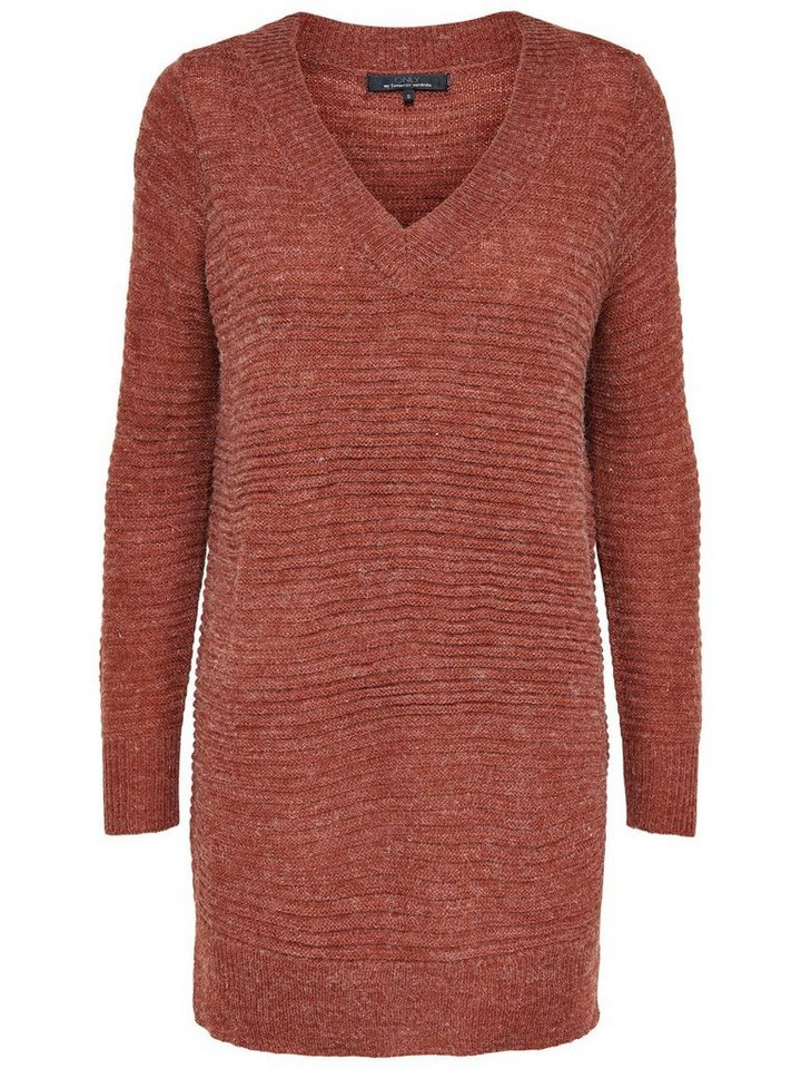 Only Langer Strickpullover in Arabian Spice